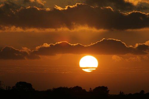 Sunset over Luddesdown
