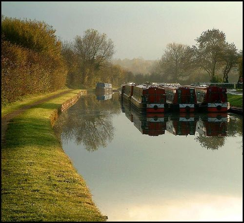 Barges at Gayton