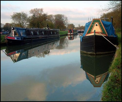 Barge on canal at Gayton
