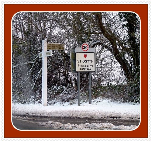 St Osyth in the snow