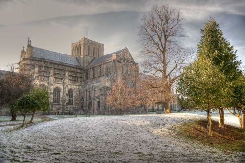 Winchester Cathedral in Snow