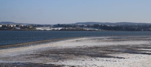 The frozen Exe Estuary