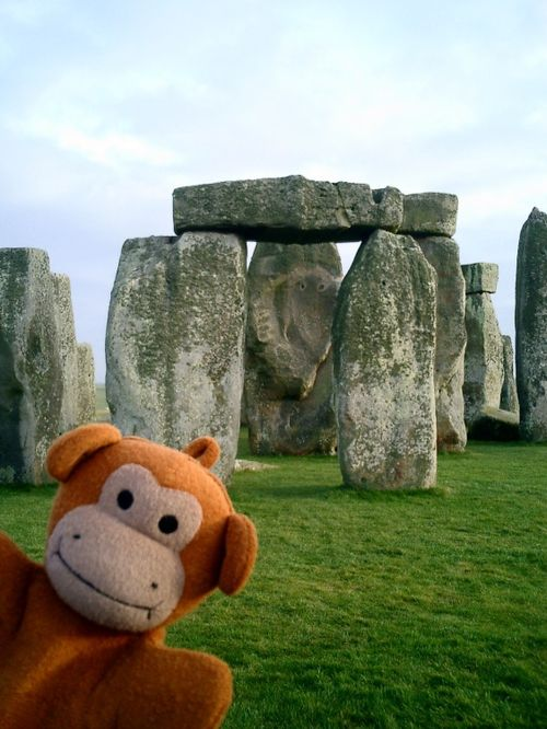 Bath Monkey visits Stonehenge