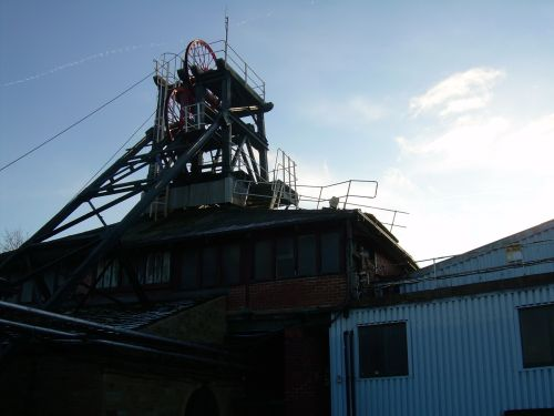 Pit head gear at Caphouse Colliery