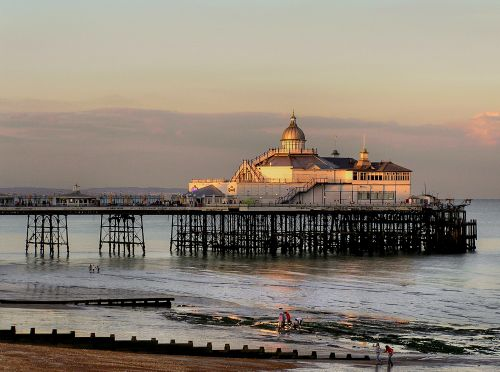 Sunset on Eastbourne pier