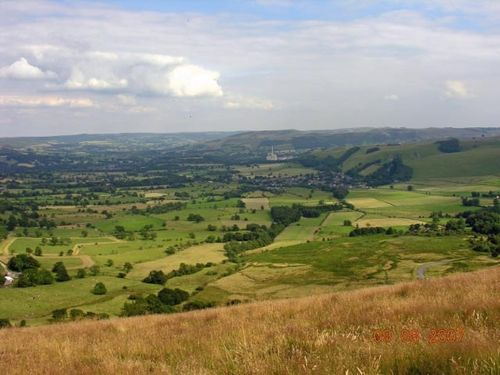 View of Hope Valley from Mam Tor.