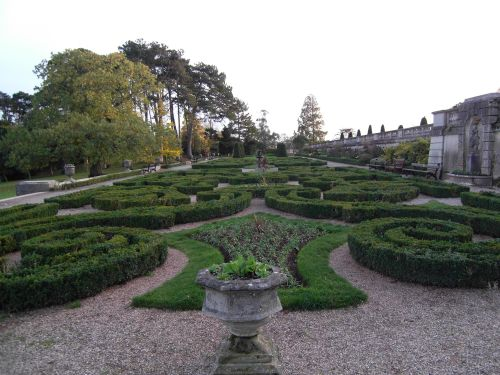 The parterre at Oldway Mansion.