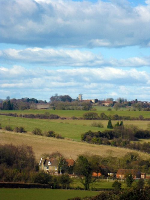 View of Cobham Church taken from Luddesdown