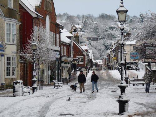Cliffe High Street Snowed