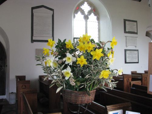 Flower Arrangement in the Church