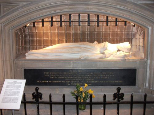 Tomb of Princess Elizabeth in St. Thomas's Church, Newport