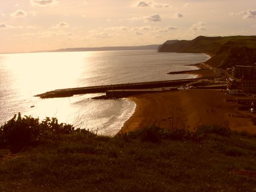 Sunset over West Bay