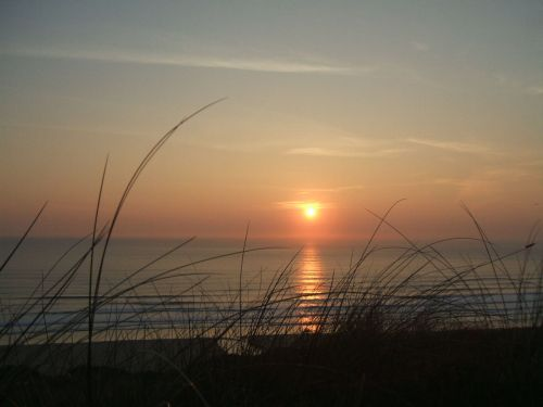 Sunset at Perran sands, Cornwall