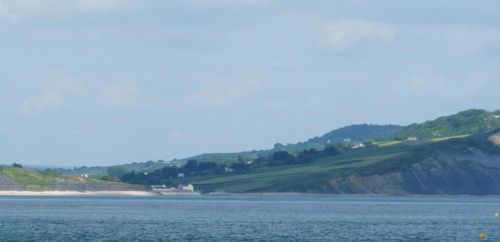 Charmouth from the Cobb