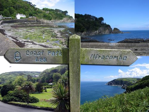 Some views of Lee Bay, Devon