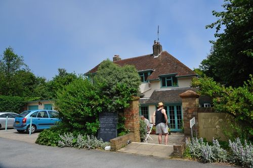 Cafe nr St Margarets Cliffe, Kent - July 2010 by David Thomas