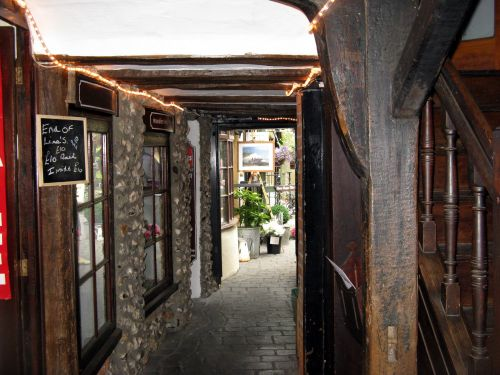 Cobbled Walk in Steyning, West Sussex