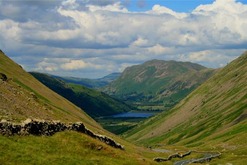 Kirkstone Pass, Cumbria. Brotherswater is in the distance.