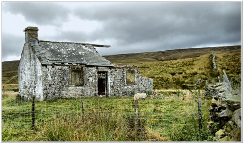 Long abandoned cottage, Yorkshire Dales.