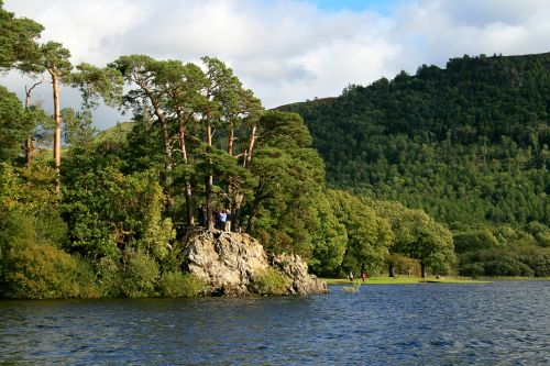 Friars Crag as seen from the lake.
