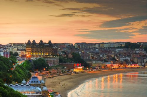 Scarborough at twilight