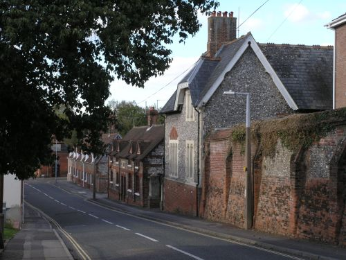 Marlborough St. Andover looking towards the former Almshouses