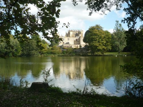 Sherborne Castle across lake