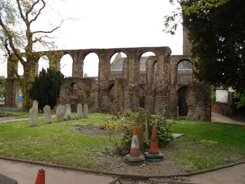 Ruins of St Botolph's Priory in Colchester