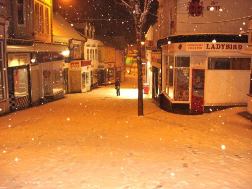 Snow on Fore Street