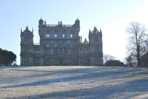 Heavy frost at Wollaton Hall