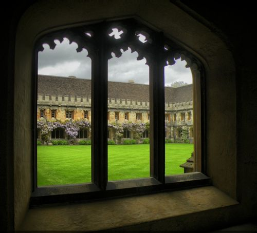 Magdalen College Quadrangle from the Cloisters