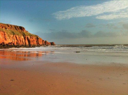Cliffs at Sand Bay near Exeter Devon
