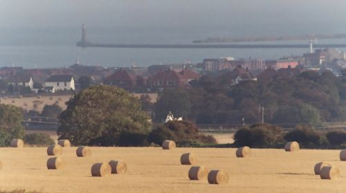 Hay Bales, Seaburn, Tyne and Wear - Sept 2009