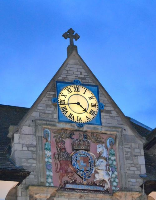 Detail of the clock on the Buttercross