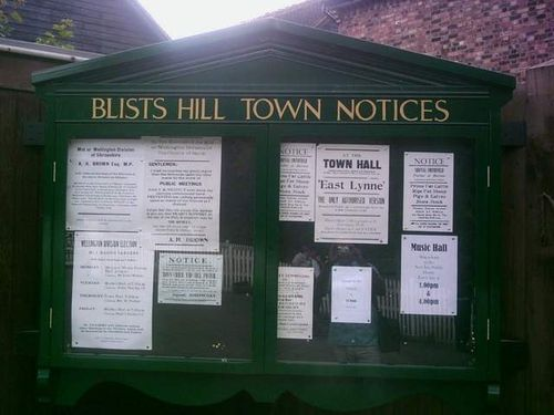 Blists Hill Victorian Town Notices Board - August 2010