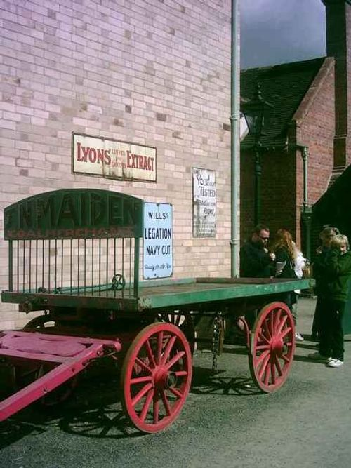 Blists Hill Victorian Town - Cart in High St - August 2010