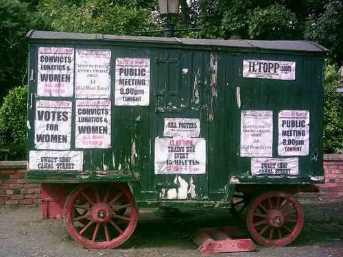 Blists Hill Victorian Town - Sufragette's Vote for Women Advertizing - August 2010
