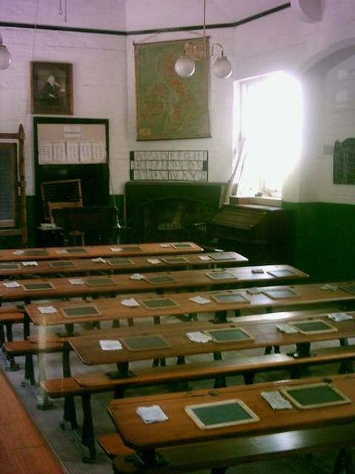 Blists Hill Victorian Town - Victorian Classroom - August 2010