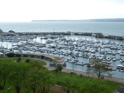 Torquay Marina on a very dull day.