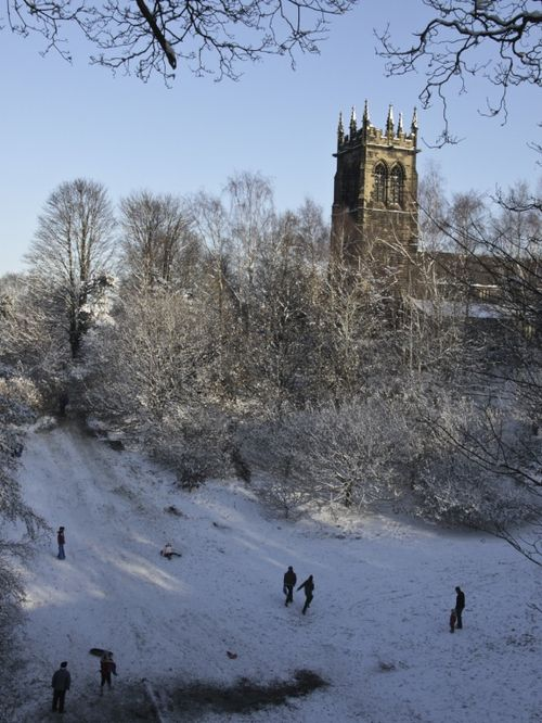 Lymm Dam in the snow