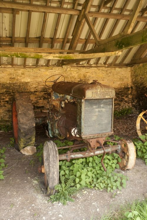 Abandoned tractor at Tyneham Village