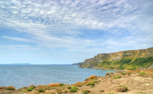 Gad Cliff from Brandy Bay, Dorset
