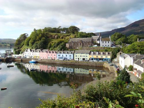 Portree waterfront from Mill Road