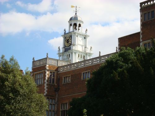 The clock tower which has been attributed to Inigo Jones.