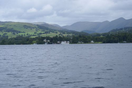 Steamer disappearing on Lake Windermere