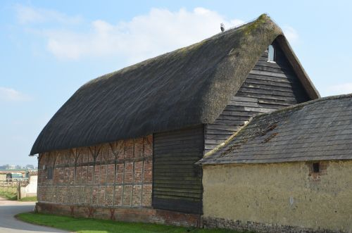 16th Century timber framed barn, Haxton