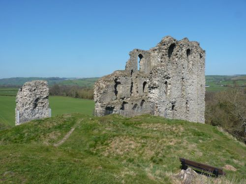 Looking out from Clun Castle