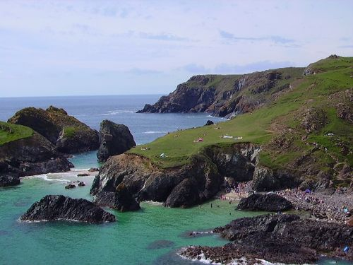 Kynance Cove on a summers day