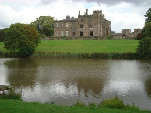 Ripley Castle from parkland