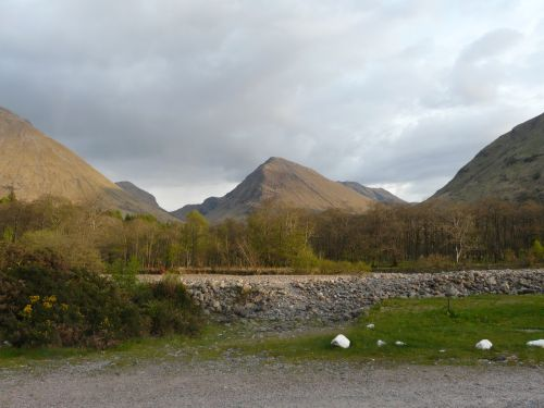 Looking from the Red Squirrel campsite into Glencoe